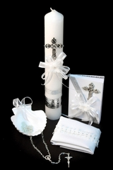 Angels Garments SB01 Silver Cross Baptism Gift Set