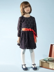 FLASH SALE - Anthem of the Ants Lucille Navy Lace Dress