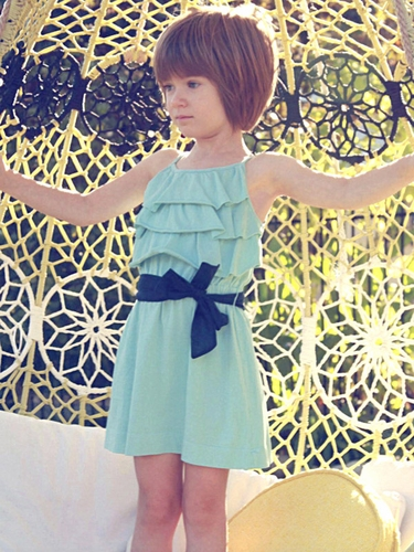 Anthem of the Ants Pool Ruffle Society Dress