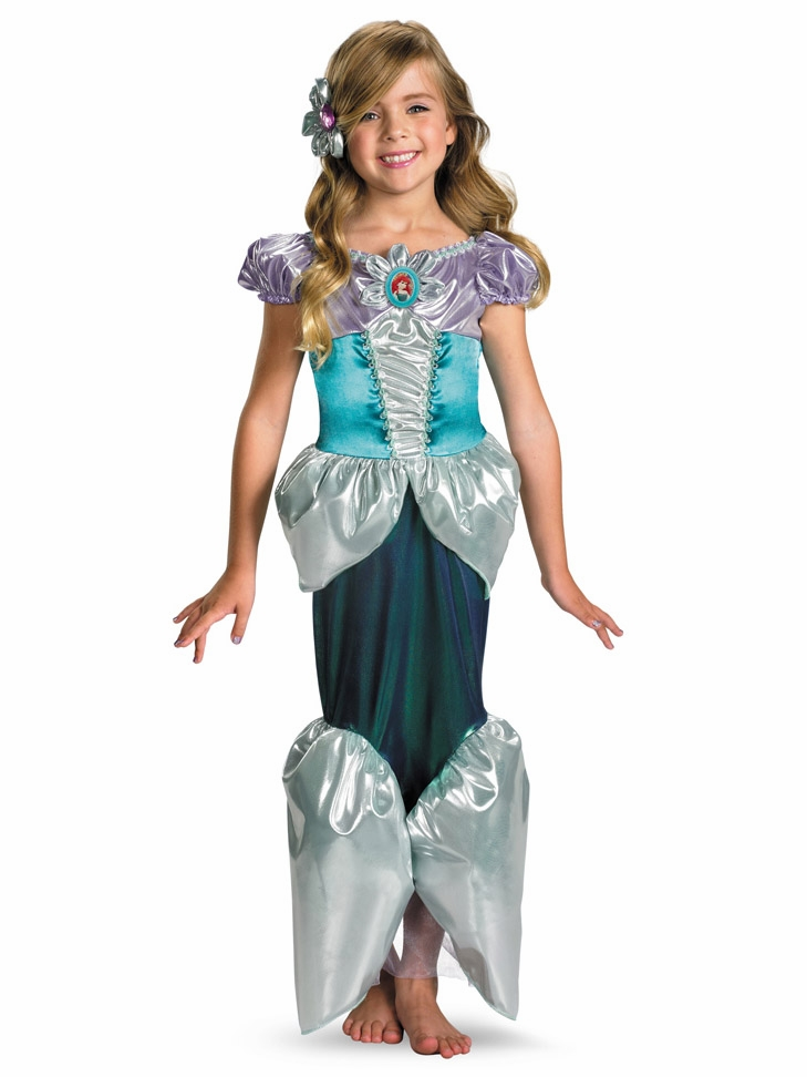 sc 1 st  Pink Princess & Ariel Shimmer Deluxe Girls Costume