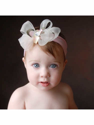 Baby Bling Rosie/Baby Maize/Baby Pink Bow Headband