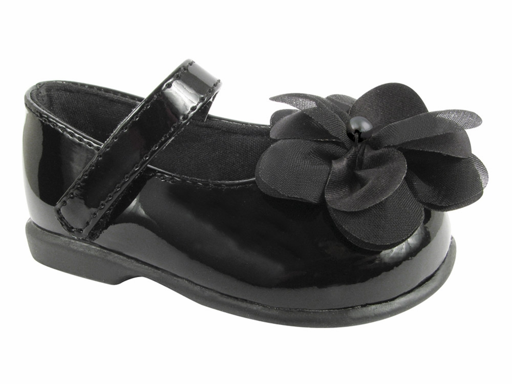 Baby Deer Black Crawling Stage First Step Shoe w