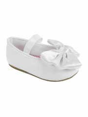 Baby Deer Girls White Crawling/Walking Shoe