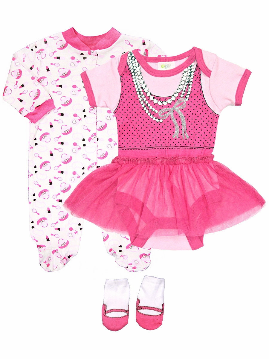 30bfedf3bc Click to Enlarge Click to Enlarge Click to Enlarge. Baby Gear 3PC Makeup  Dress Up Body Suit Sleeper ...