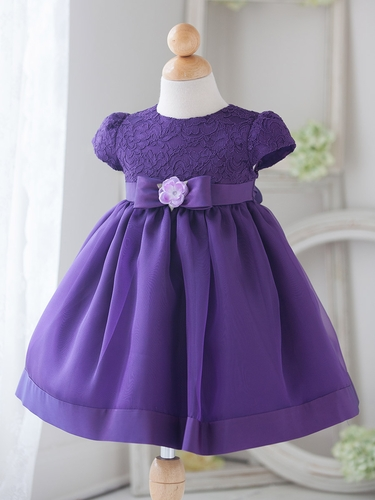 Baby Girl Purple Vintage Charm Lace Dress