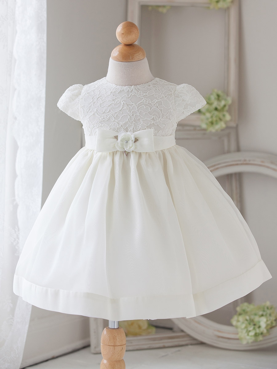 Vintage little girls white dress think, that