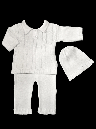 Baby's Trousseau 3 Piece Sweater Set