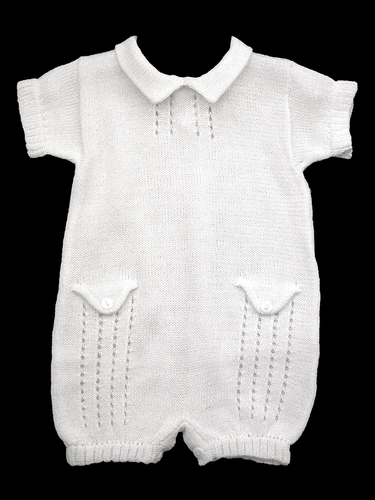 Baby's Trousseau Button Detail Romper