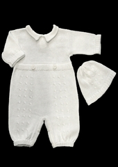 Baby's Trousseau Collard Knitted 2 Button Romper