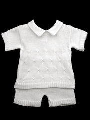 CLEARANCE - Baby's Trousseau Two Piece Detail Knit Set