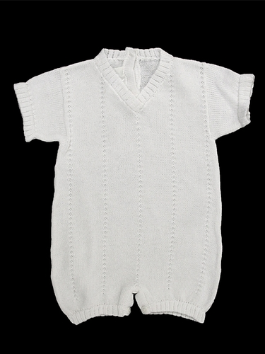 Baby's Trousseau V-Neck Short Sleeve Romper