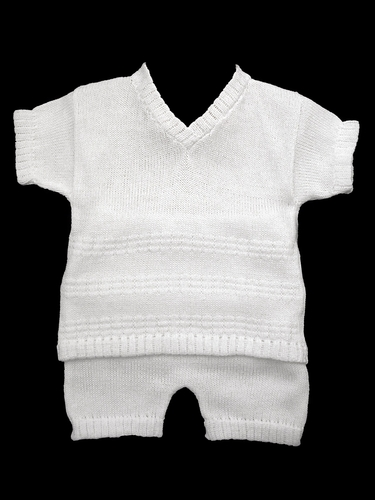 Baby's Trousseau V-Neck Sweater Look Two Piece Set