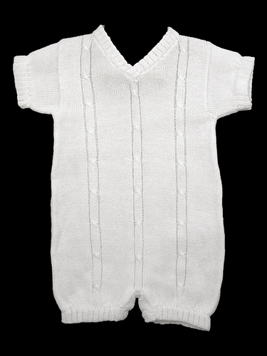 Baby's Trousseau V-Neck with Detail Romper