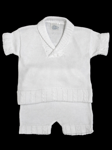 Baby's Trousseau White 2 Piece Set
