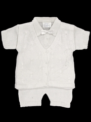 Baby's Trousseau 2 Piece Mock Vest Knit Set