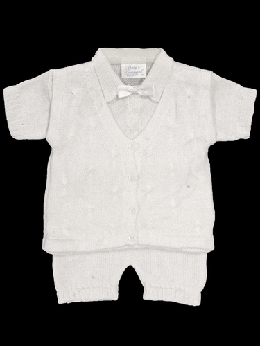 Baby's Trousseau 3 Piece Mock Vest Knit Set