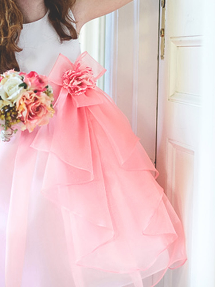 2e66ad95716 ... Girl Dresses   Banana Organza Skirt Dress w  Bow   Flower. Click to  Enlarge Click to Enlarge
