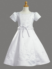 Beaded Satin Communion Dress