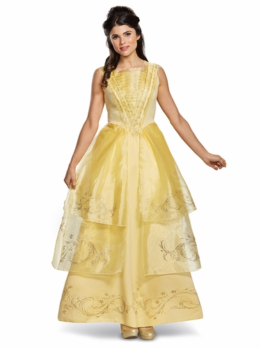 Beauty & The Beast Belle Ball Gown Deluxe Adult