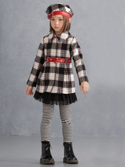 Biscotti Black & Red Plaid Coat