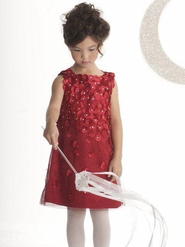"""Biscotti """"Falling For Dots"""" Red Sleeveless Dress"""