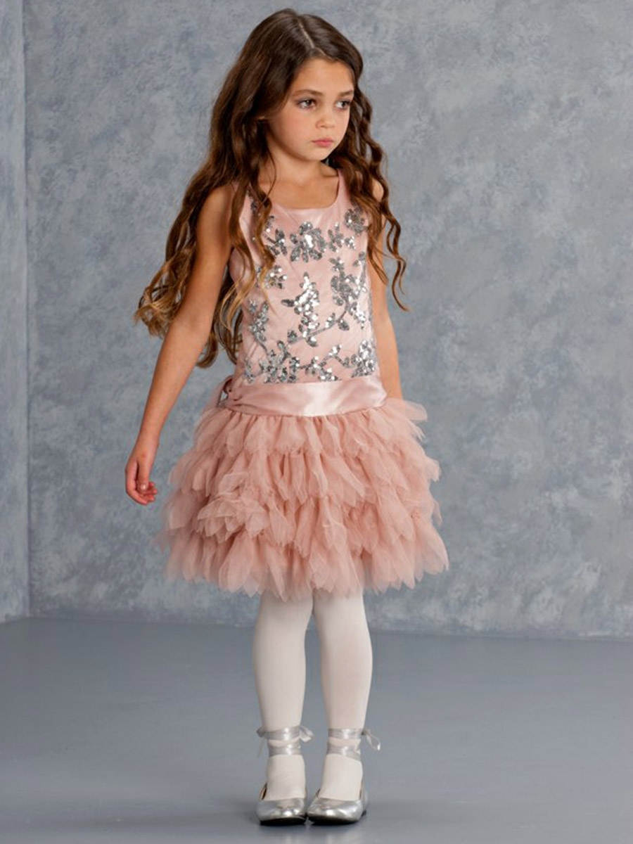 Filigree Flutter Exquisite Coco Sequined Tulle Dress