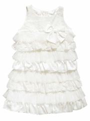 Biscotti Ivory Sleeveless Tiered Lace Dress