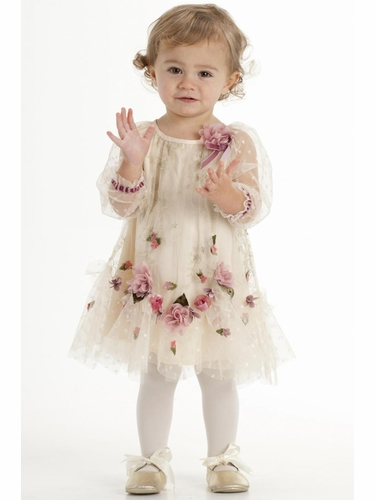 CLEARANCE - Biscotti  Ivory Vintage Treasure Embroidered Dress