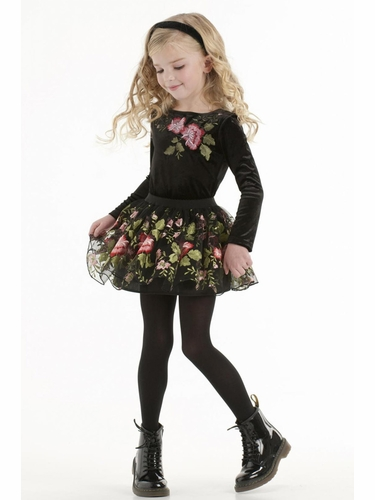 CLEARANCE - Biscotti Midnight Garden Skirt Set