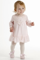 Biscotti Pink Dreamer Lace Bodice Dress