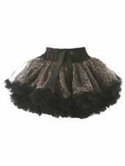 Black & Brown Leopard Print Pettiskirt