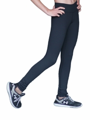 Black ChloeNoel Skinny Yoga Off Ice Elite Pant w/ Front Pocket & Swarovski Crystal Block