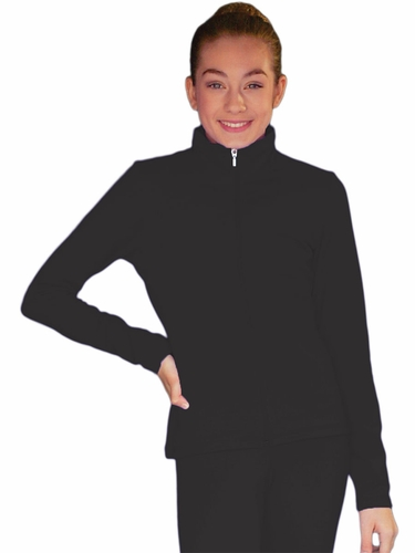 Black ChloeNoel Solid Fleece Jacket w/ Thumb Holes