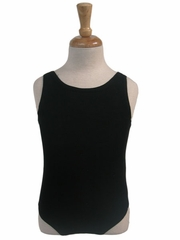 Black Cotton Tank Leotard