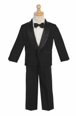 Black Dinner Jacket w/ Pants 4 PC Tuxedo