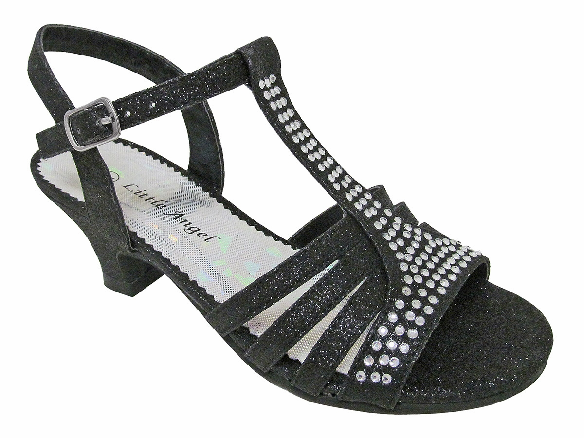 Black Dress Sandals w/ Rhinestones