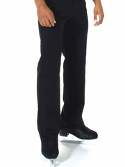 Black Jerry's Men's Black Flat Front Skating Pants