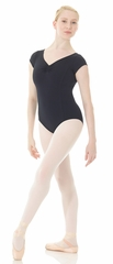 Mondor Black Matrix Cap Sleeve Leotard