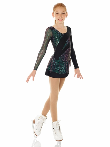 Mondor Black Sparkly Skating Dress