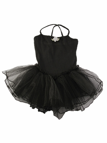 Black Spaghetti Strap Tutu Dress