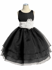 Black flower girl dresses pinkprincess black three layer organza dress mightylinksfo