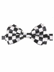 Black & White Checkered Kid Bowtie