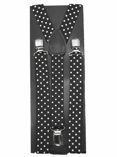 Black & White Polka Dot Kid Suspenders
