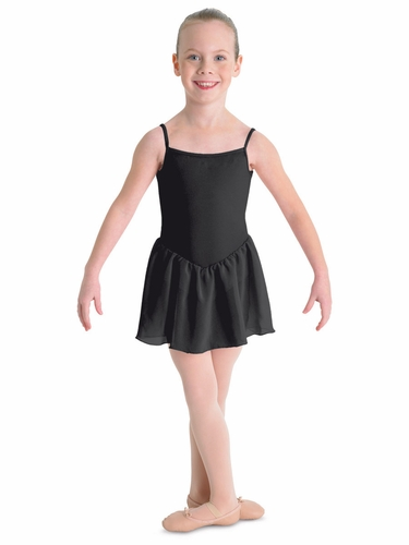 Bloch Black Blossom Skirted Cami Leotard