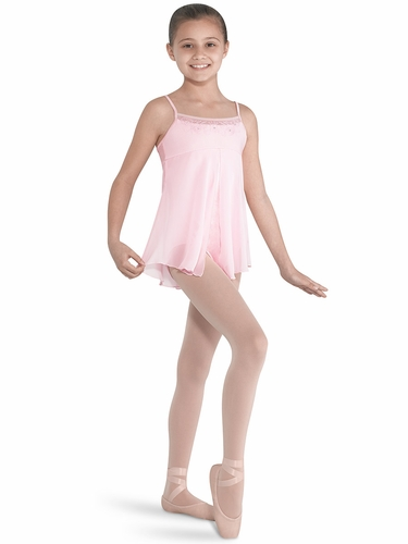 Bloch Embroidered Tulle Front Split Leotard Dress