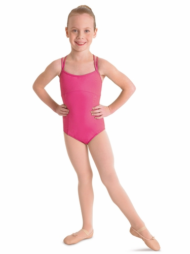 Bloch Hot Pink Double Crossback Leotard