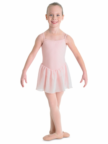 Bloch Light Pink Blossom Skirted Cami Leotard