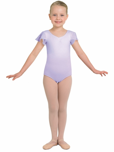 Bloch Lilac Tank Leotard w/ Georgette Sequin Sleeves