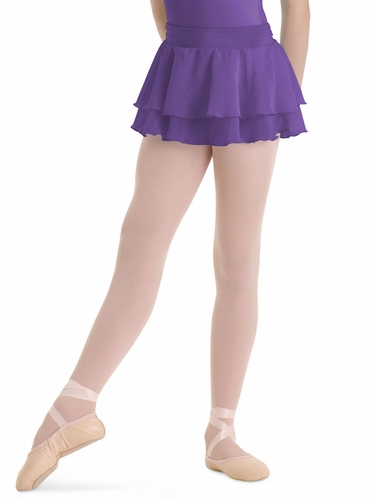 Bloch Purple Summer Layered Skirt