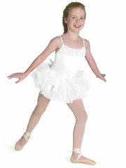 CLEARANCE - Bloch White Desdemona Tutu Leotard